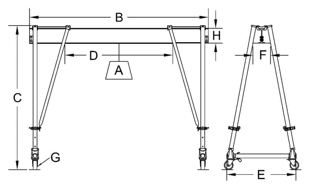 Tri-Adjustable Round Tube Dimensional Sketch