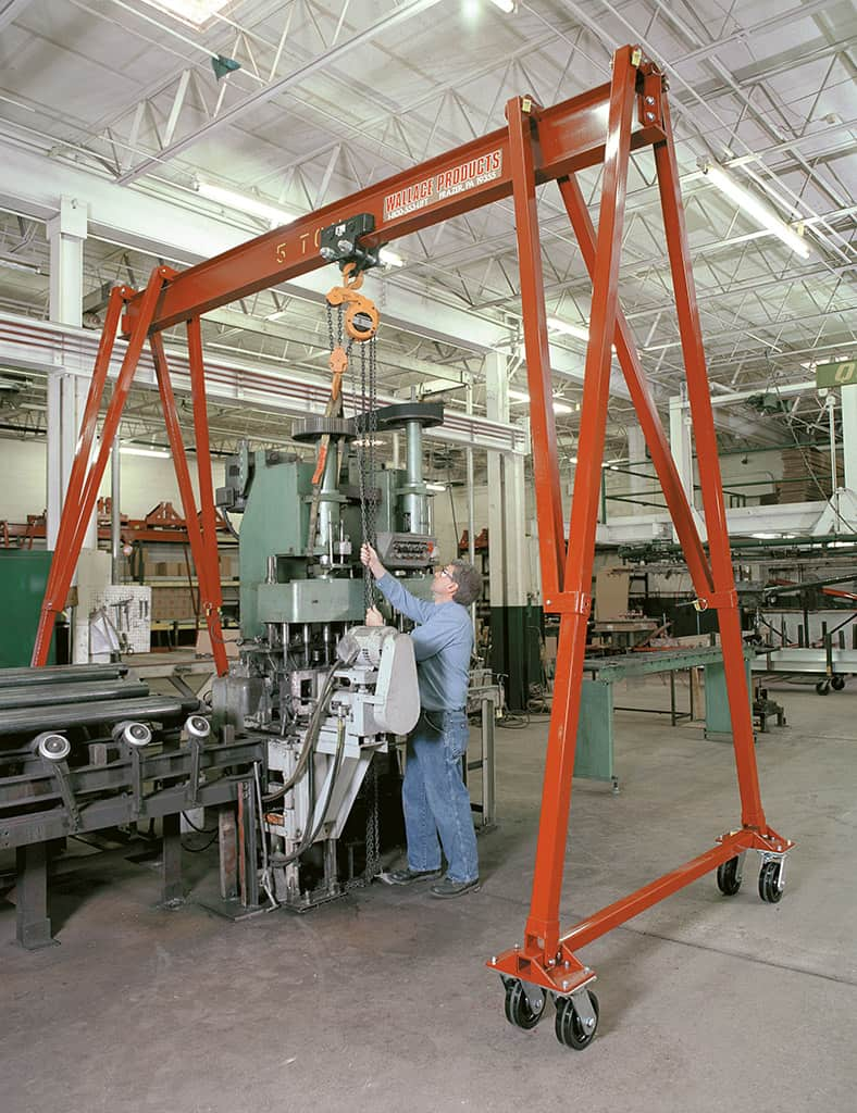Material Handling Crane Forward Repair System : Hippolift fixed height gantry cranes wallace