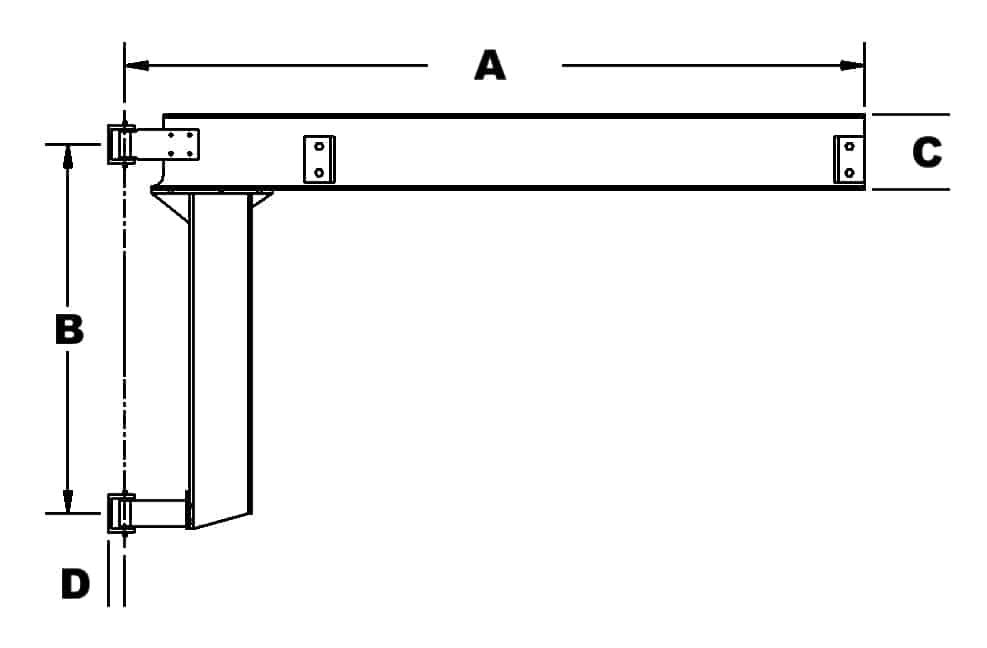 Jib Crane Mounting Brackets : Wall mounted jib cranes and kits wallace